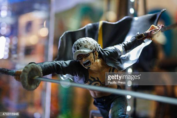 An action figure of Rufy by One Piece Thousands of visitors to the twentyfirst edition of Turin Comics the fair that brings together fans of comics...