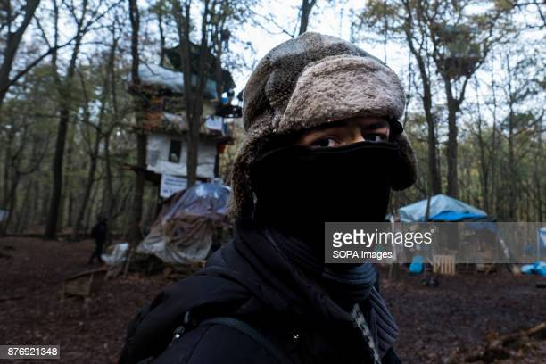 An activist poses for a portrait in the middle of one of the settlements Starting in 2012 the Hambach Forest occupation settlements have slowed the...