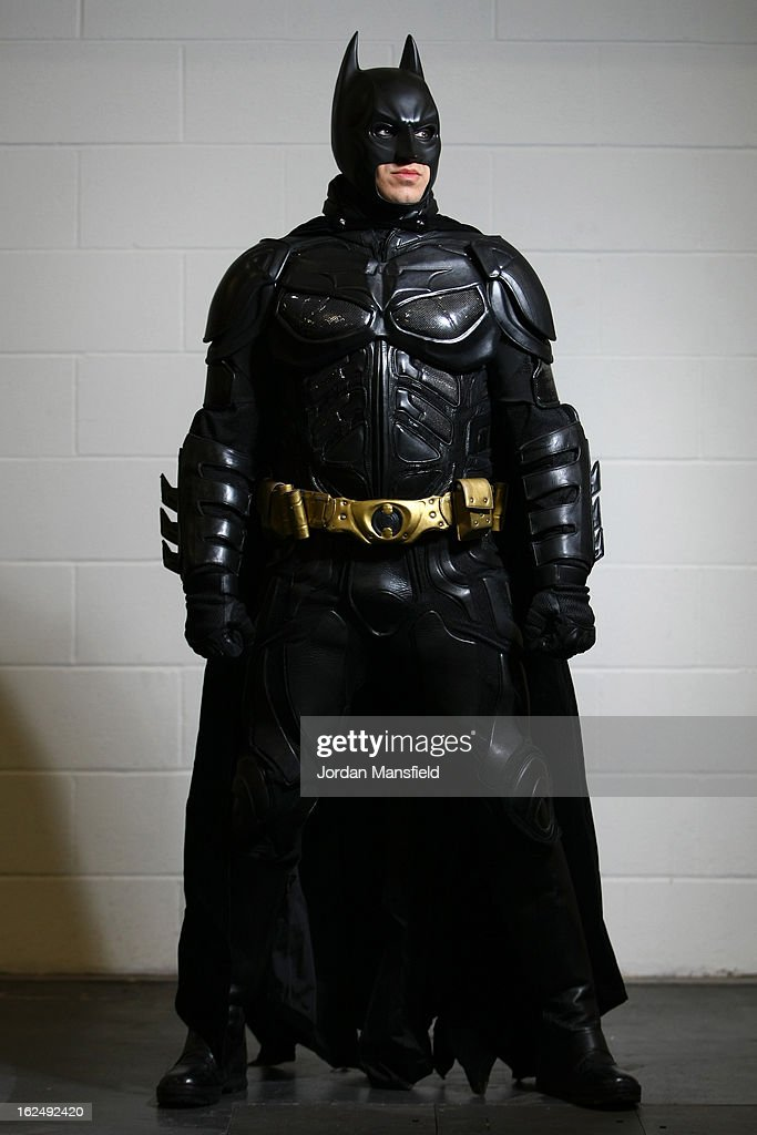An actor dressed as Batman poses for a photo at the London Super Comic Convention at the ExCeL Centre on February 23, 2013 in London, England. Enthusiasts at the Comic Convention are encouraged to wear a costume of their favourite comic character and flock to the ExCeL to gather all the latest news in the world of comics, manga, anime, film, cosplay, games and cult fiction.