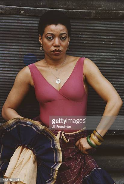 An actress from the Broadway show 'For Colored Girls Who Have Considered Suicide When the Rainbow Is Enuf' by Ntozake Shange in New York City 1977