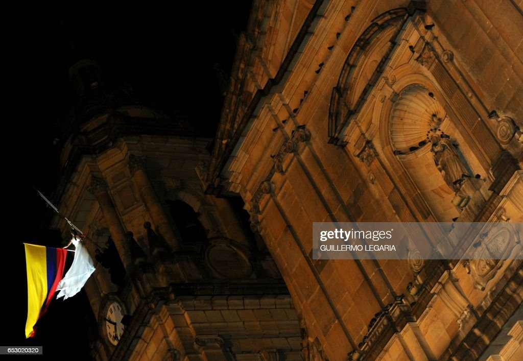 An actress performs during a show at Bolivar square in Bogota on July 20, 2010 during celebrations for the Bicentenary of the Independence of Colombia. AFP PHOTO/Guillermo Legaria /