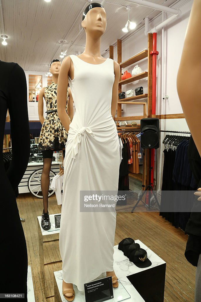 An Adam Selman Dress as worn by Rihanna at the 2012 MTV Video Music Awards on display at the Opening Ceremony RIHtrospective: Seven Rihanna Fashion Moments at Opening Ceremony on March 4, 2013 in New York City.
