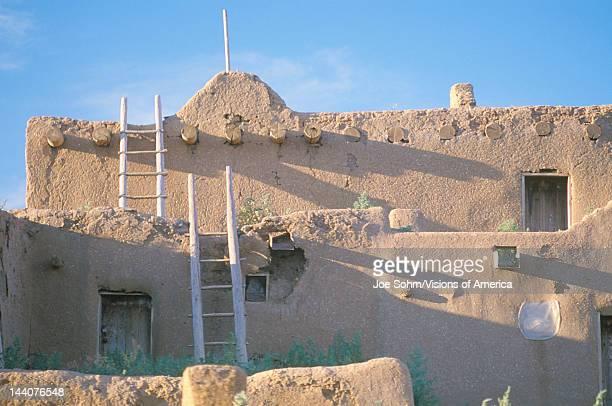 An adobe dwelling Taos Pueblo NM