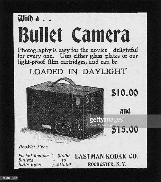 An advertisement for a Kodak 'bullet camera' March 1897 Original Publication The Ladies' Home Journal