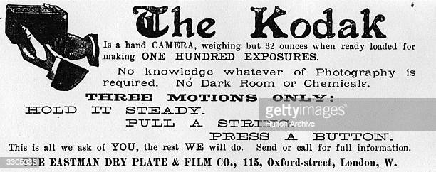 An advertisement for an early Kodak camera Original Publication Illustrated London News pub 1889