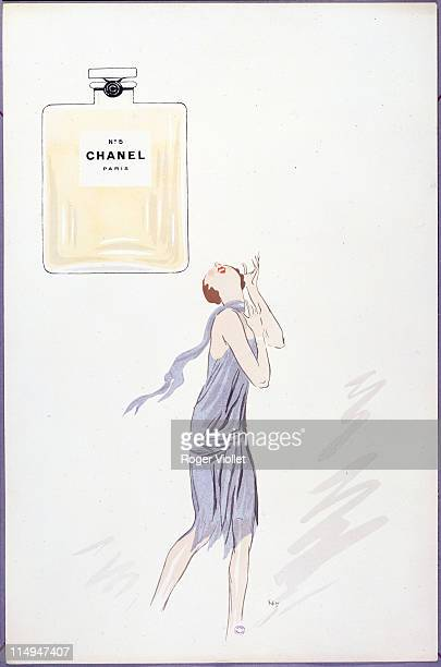 An advertisement for Chanel Number 5 perfume 1921 A drawing by Sem