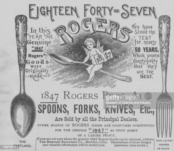 An advertisement for Roger's Goods spoons forks and knives published in the 'Authentic World's Fair Journal' dated October to promote the World's...