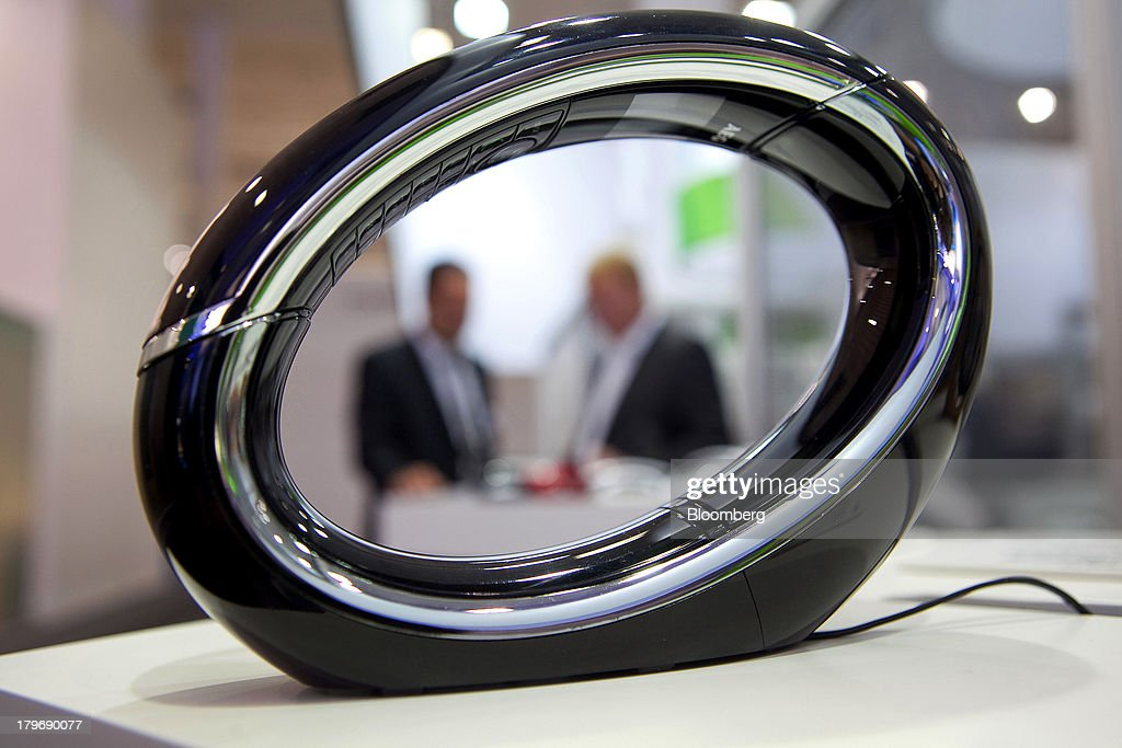 An AEG Eclipse 15 telephone sits on display at the IFA consumer electronics show in Berlin, Germany, on Friday, Sept. 6, 2013. Global smartphone revenue will rise 22 percent in 2013, or nearly half the pace of an expected 41 percent gain in shipments, amid falling prices, according to UBS. Photographer: Krisztian Bocsi/Bloomberg via Getty Images