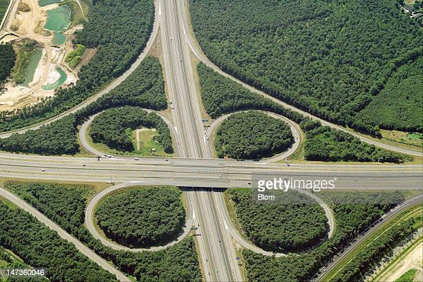 An aerial image of a Road Junction Venlo