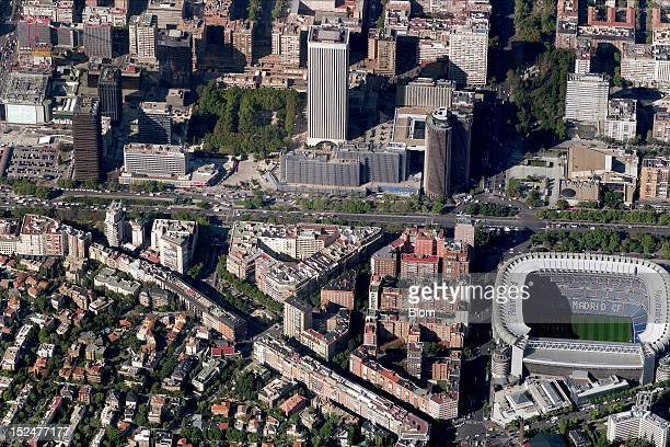 An aerial image of Azca Madrid