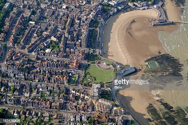 An aerial image of Broadstairs Beach Saint Lawrence