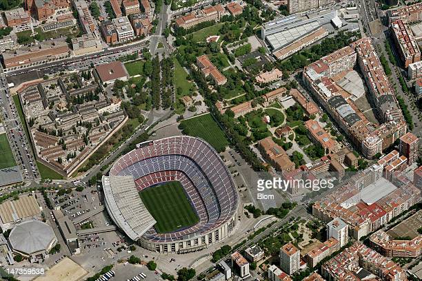 An Aerial image of Camp Nou Barcelona