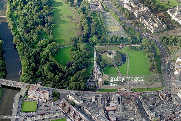An aerial image of Cardiff Castle Cardiff