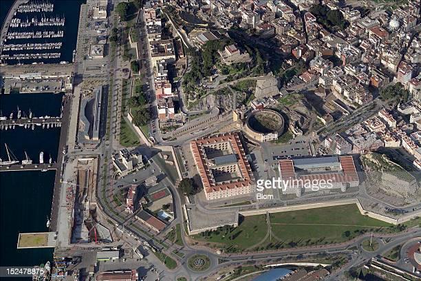 An aerial image of Castillo De la Concepcion Cartagena