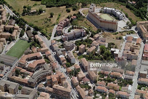 An aerial image of City Center Campobasso
