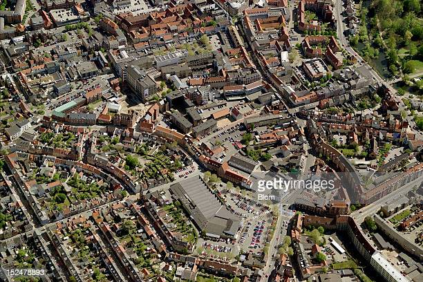 An aerial image of City Center Odense