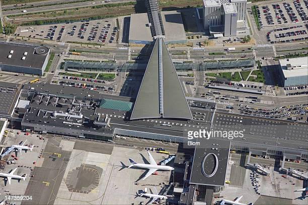 An aerial image of Copenhagen Airport Kastrup