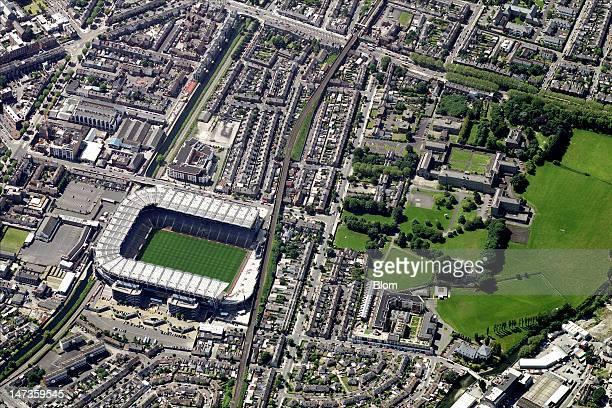 An Aerial image of Croke Park Dublin