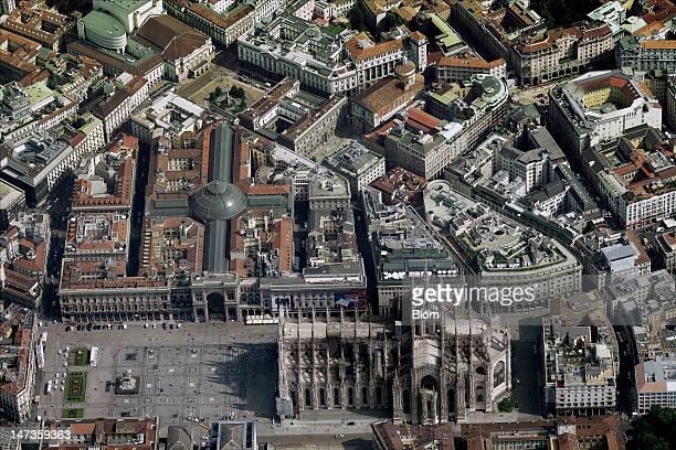 An aerial image of Duomo di Milan Milan