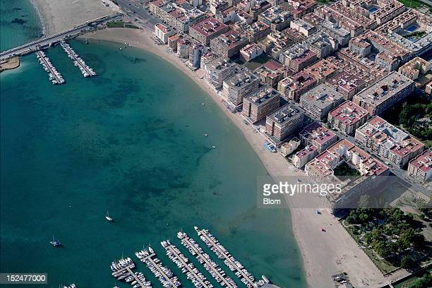 An aerial image of El Acequon Beach Torrevieja