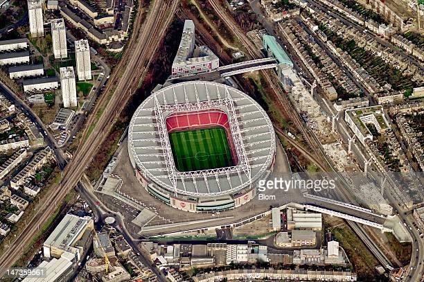 An aerial image of Emirates Stadium Ashburton Grove London