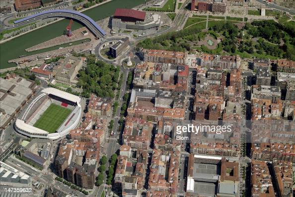 An Aerial image of Estadio San Mamés Bilbao