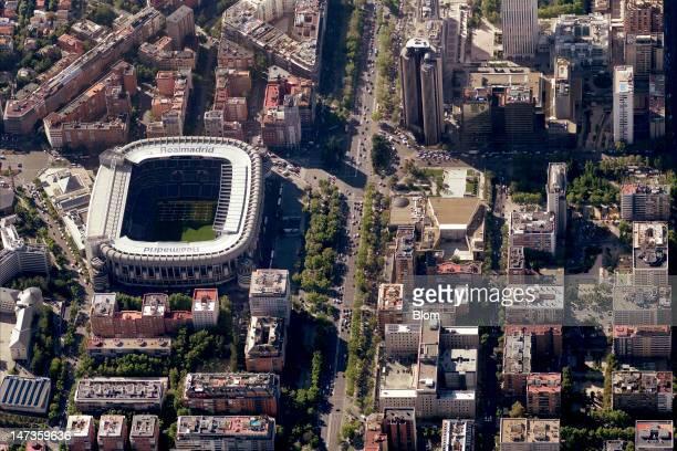 An Aerial image of Estadio Santiago Bernabéu Madrid