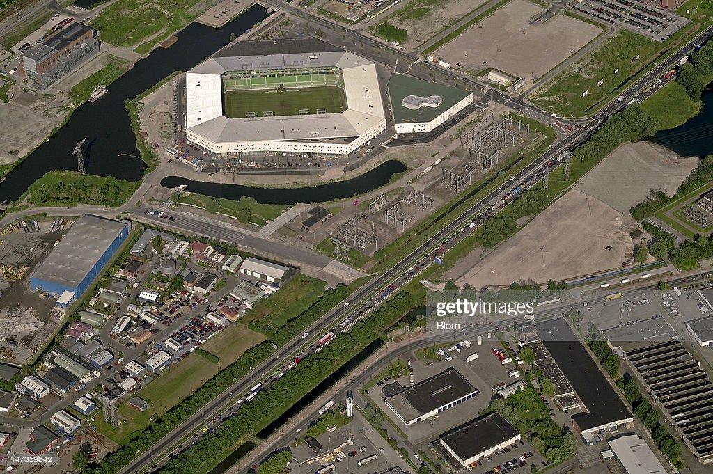 An Aerial image of Euroborg Groningen
