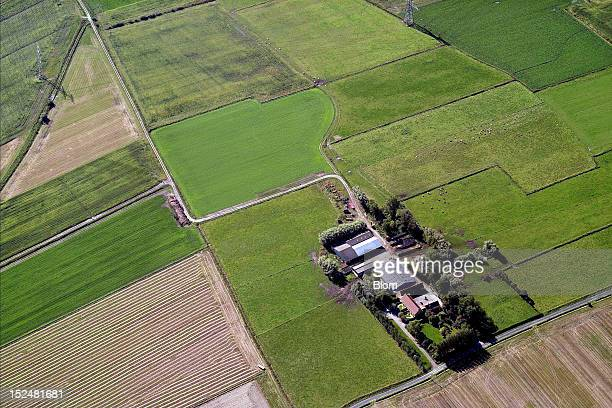 An aerial image of Farm And Croplands Calais