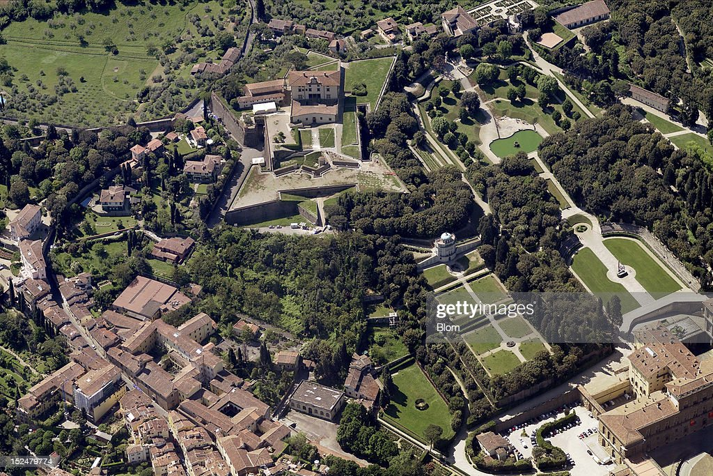 An aerial image of Forte di Belvedere Florence