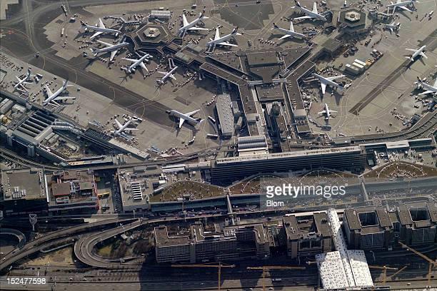 An aerial image of Frankfurt Airport Frankfurt