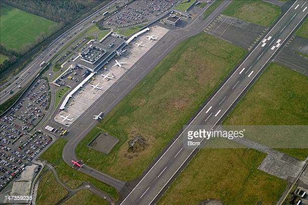 An aerial image of GeorgeBest BelfastCity Airport Belfast