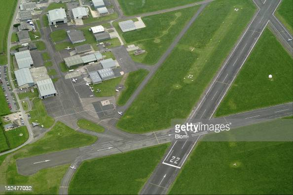 An aerial image of Gloucestershire Airport Gloucester