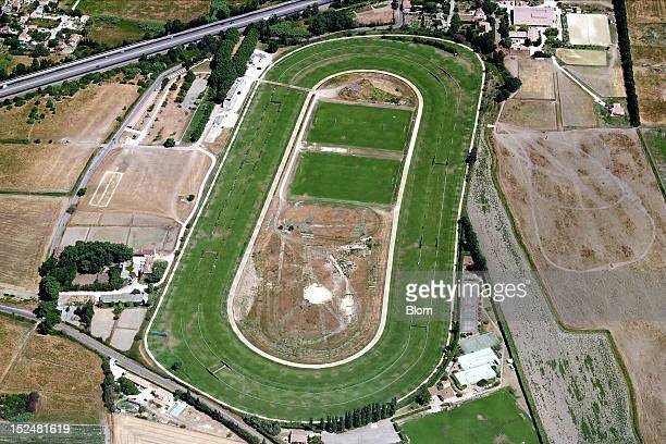 An aerial image of Hippodrome Nimes