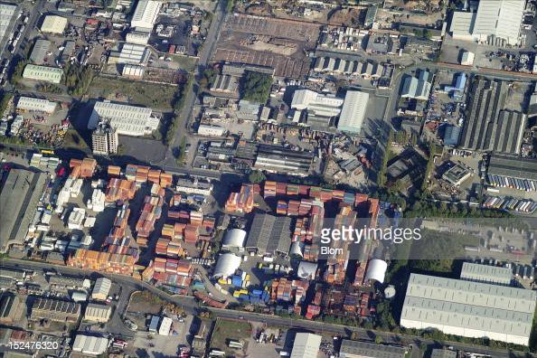 An aerial image of Knowsley Industrial Park Liverpool
