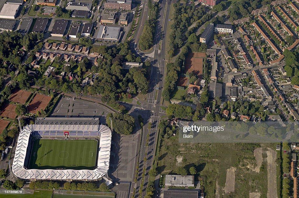 An Aerial image of Koning Willem II Stadion Tilburg