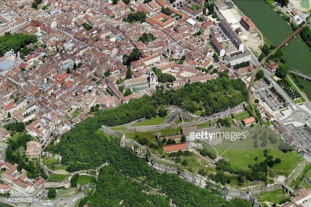An aerial image of La Citadelle Besançon