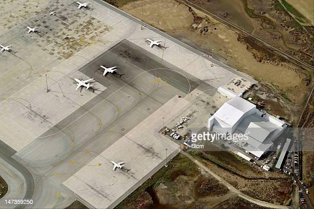 An aerial image of Larnaca Airport Lanarca