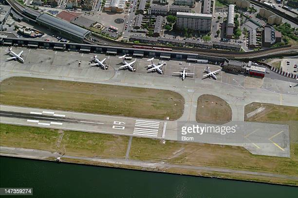 An aerial image of London City Airport London