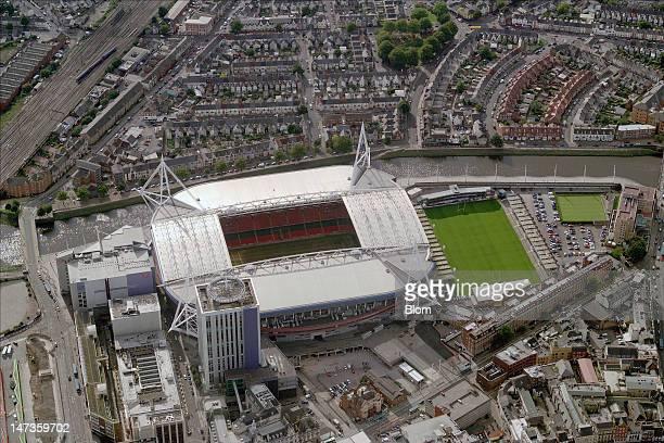 An Aerial image of Millennium Stadium London Olympics 2012 Cardiff