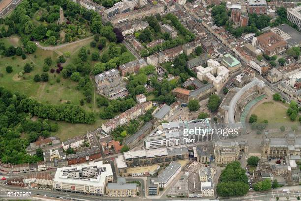 An aerial image of Old Town Bristol