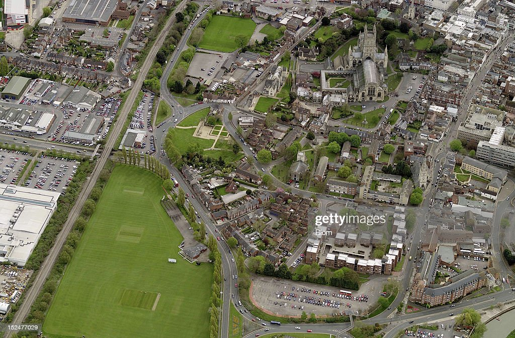 An aerial image of Old Town Gloucester