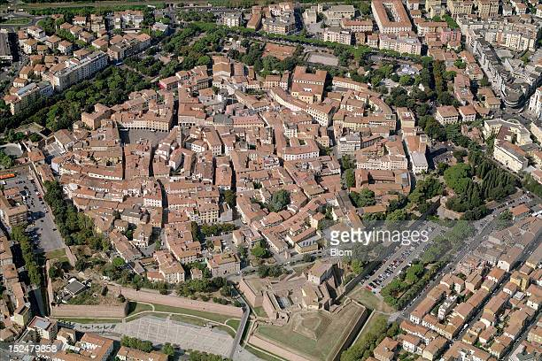An aerial image of Old Town Grosseto