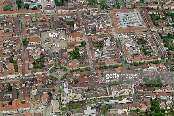 An aerial image of Old Town Ludwigsburg