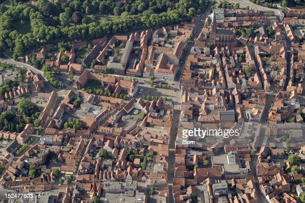 An aerial image of Old Town Luneburg