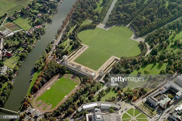 An aerial image of Orangerie Kassel