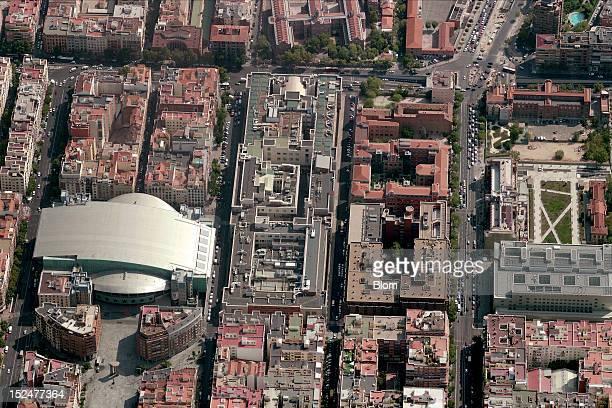 An aerial image of Palacio De Los Deportes De la Comunidad De Madrid Madrid