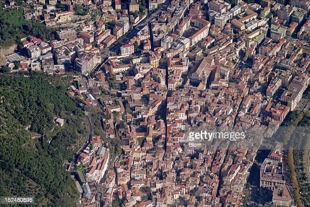An aerial image of Piazza Alfano Salerno