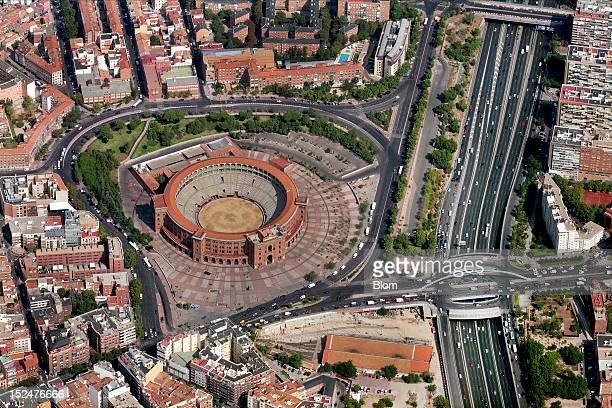 An aerial image of Plaza De Toros De Las Ventas Madrid