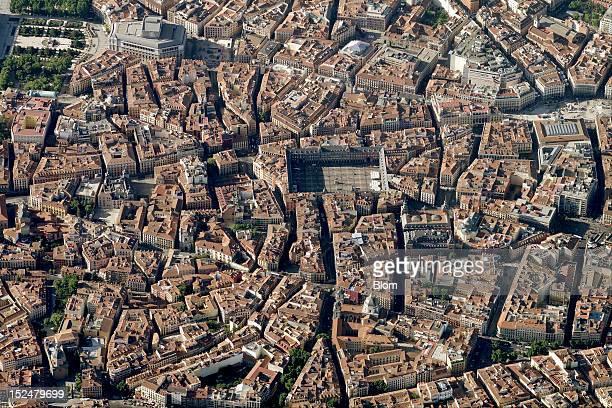 An aerial image of Plaza Mayor Madrid